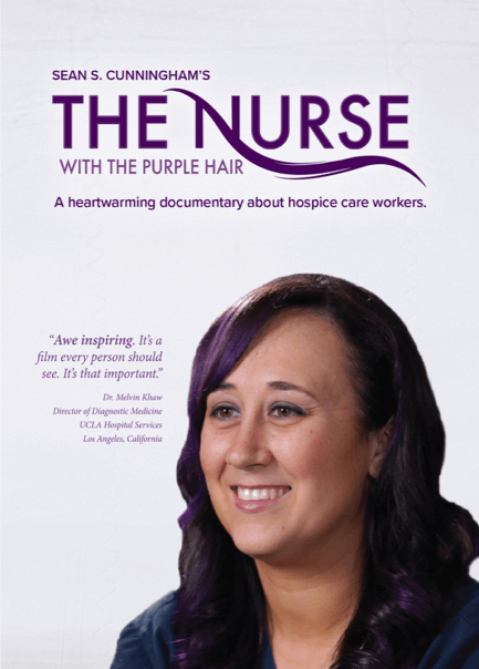 Nurse with purple Hair Poster